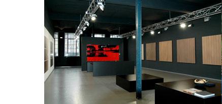 Innenansicht Showroom MYDECK mit WPC Terrassendielen in Hamburg
