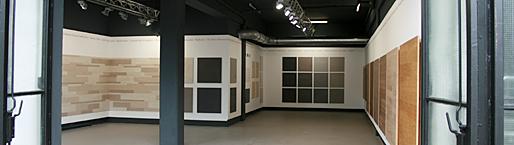 Inneneinblick in den showroom von MYDECK WPC Terrassendielen bei frankfurt