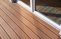 Holzdielen MYDECK auf Terrasse im Ausschnitt
