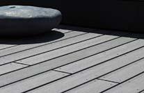 Terrassenbohle grau wpc