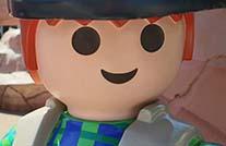 Großaufnahme Gesicht playmobilfigur